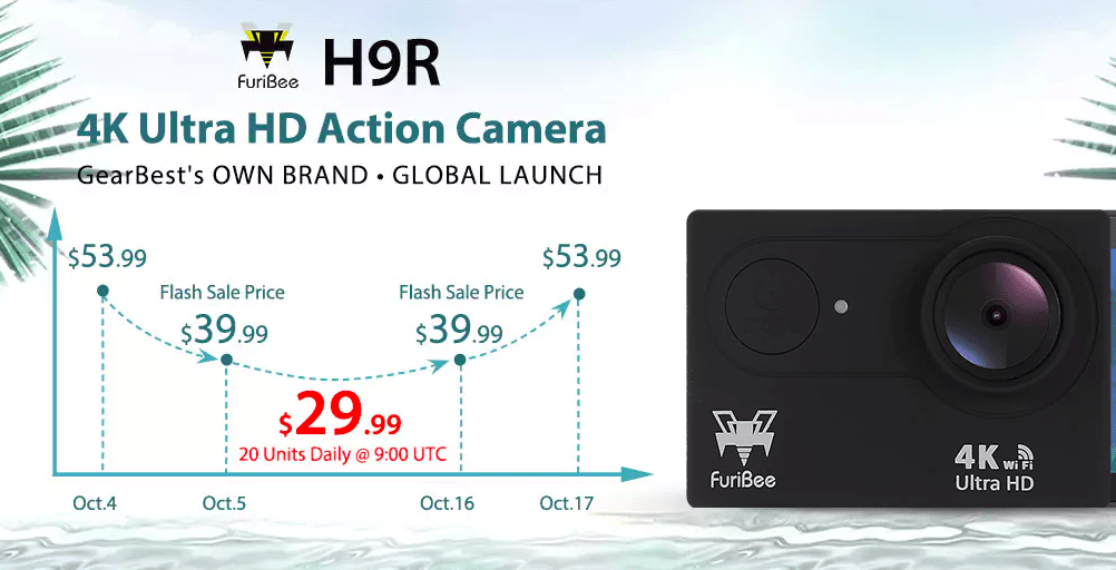 Furibee H9R 4K Action Camera - deal