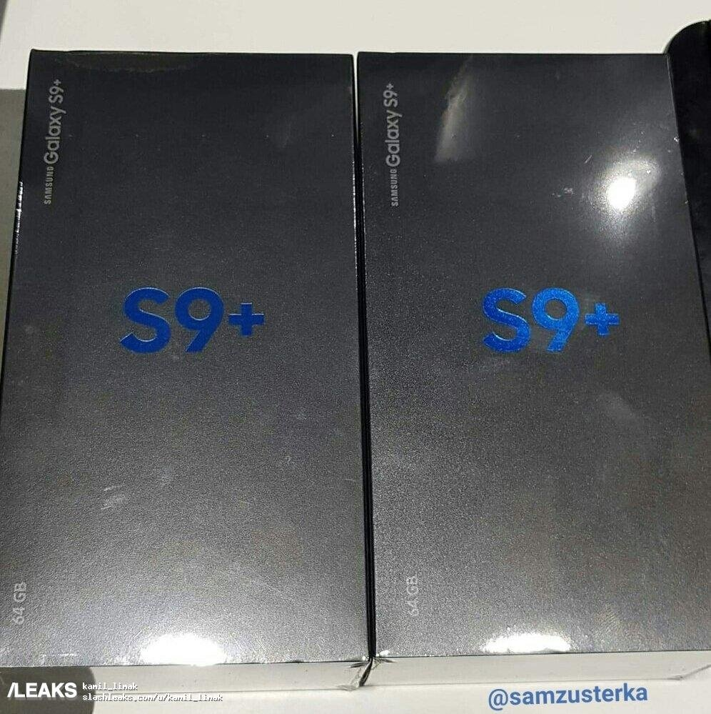 Samsung Galaxy S9 + Box Leaked front