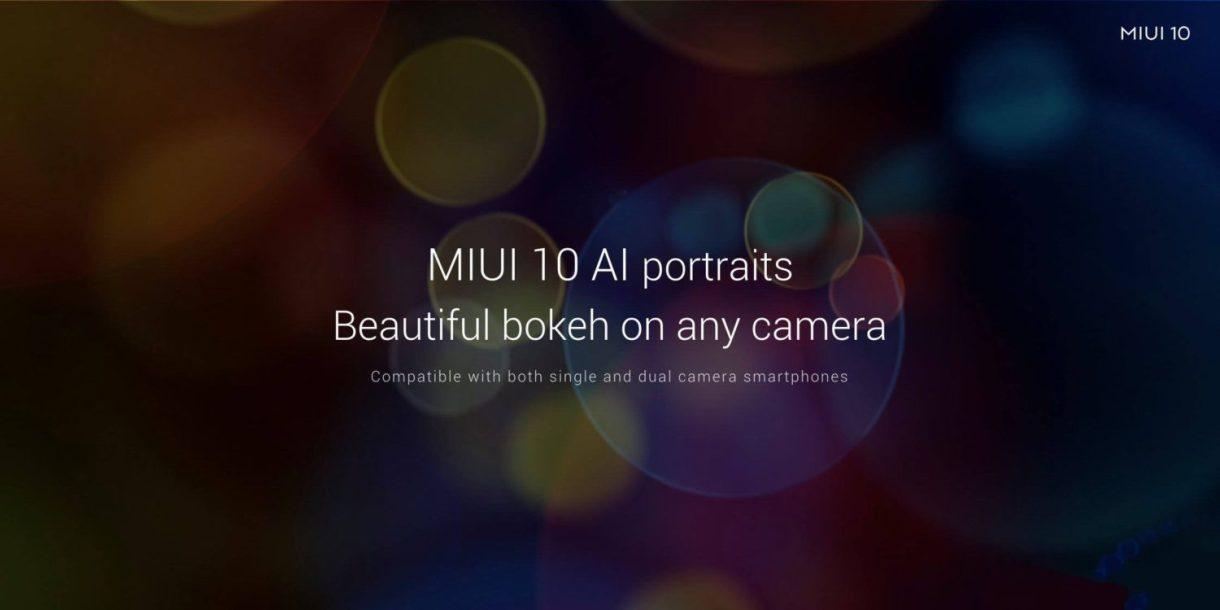 AI portarit Bokeh effect MIUI 10 review