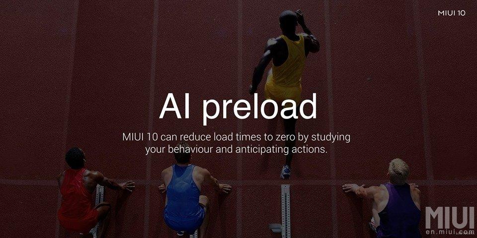 AI preloaded MIUI 10