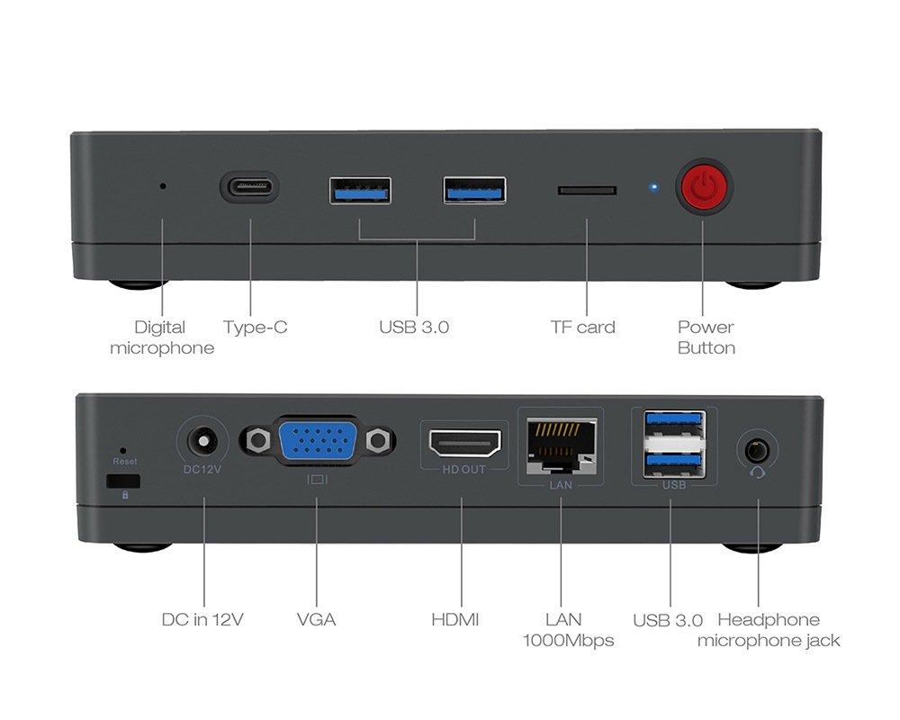 Alfawise T1 Mini PC Preview Design Dimensions