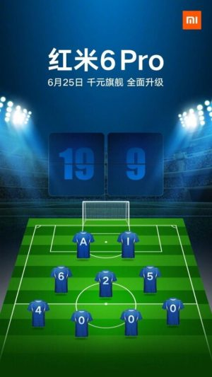 Xiaomi Redmi 6 Pro specs release date poster