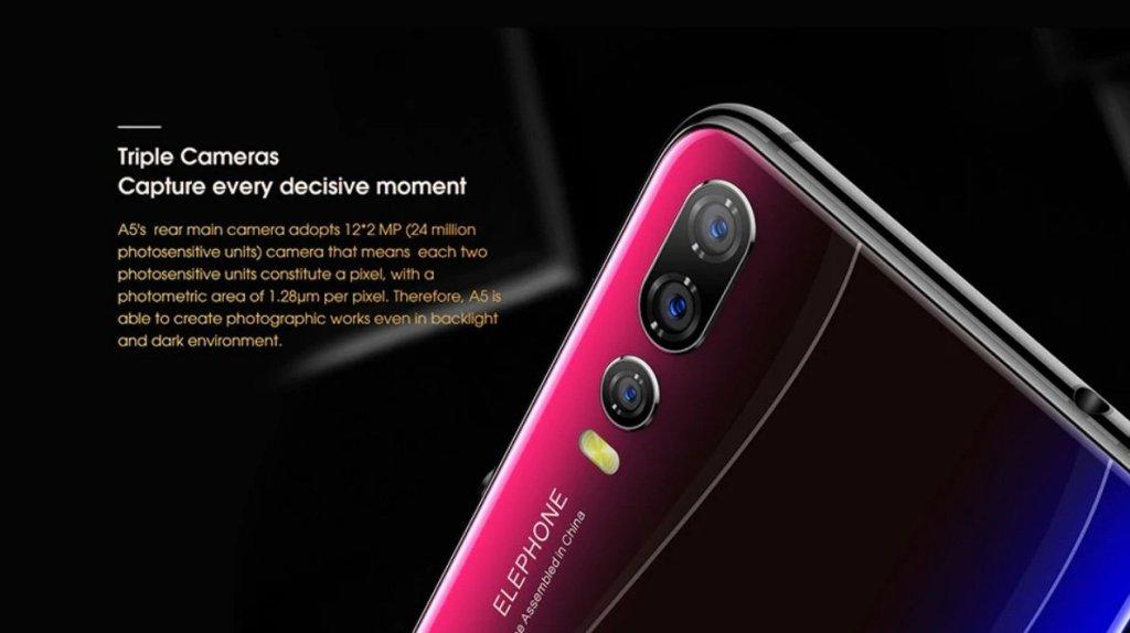 Elephone A5 Rear cameras