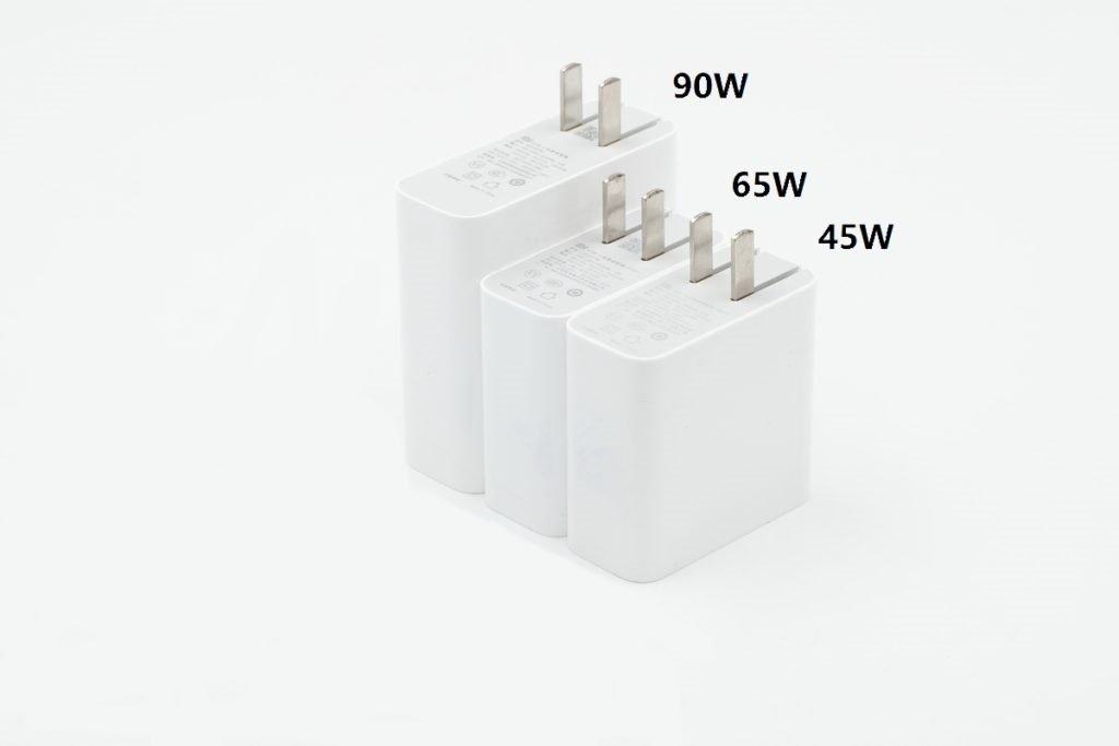 Xiaomi 90W USB PD Charger vs 45W vs 65W Chargers comparison