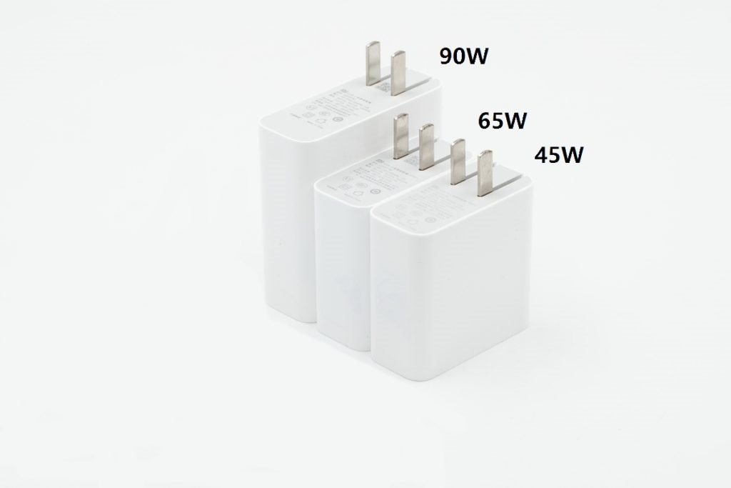 Xiaomi 90W USB PD Charger vs 45W vs 65W Chargers comparison