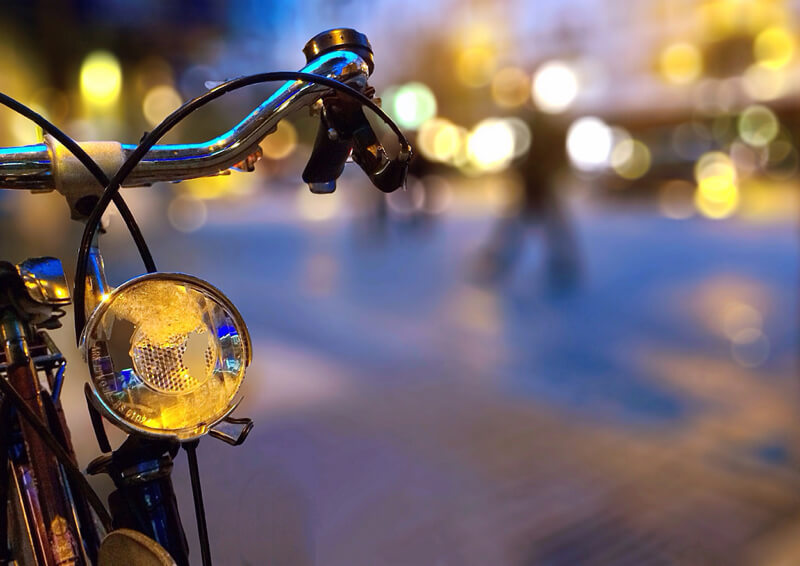 bokeh bicycle