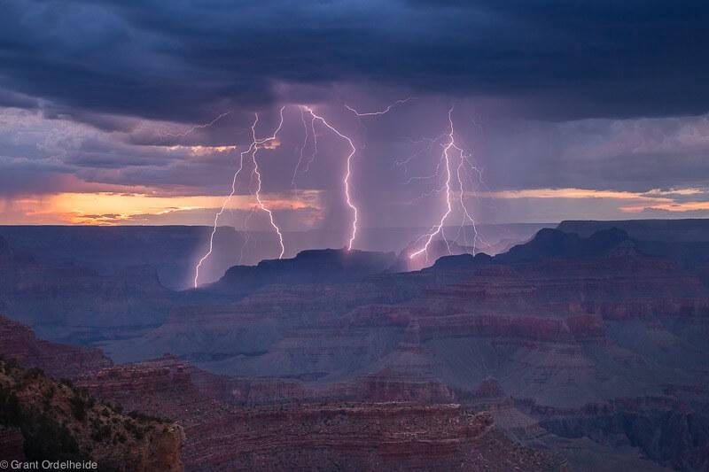 Havasu Falls Arizona Wallpaper Incredible Grand Canyon Lightning Photos By Grant Ordelheide