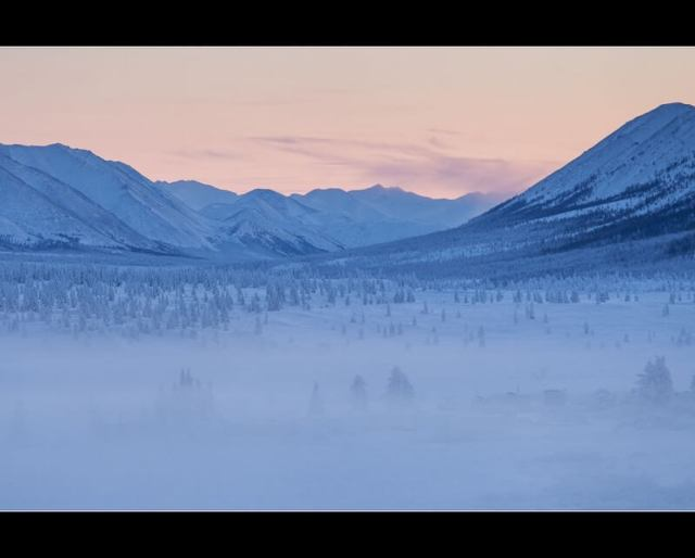 Maarten Takens - After sunset ... near Oymyakon in Yakutia ..