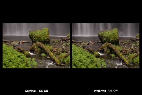 Example of Image Stabilization with photo of a waterfall