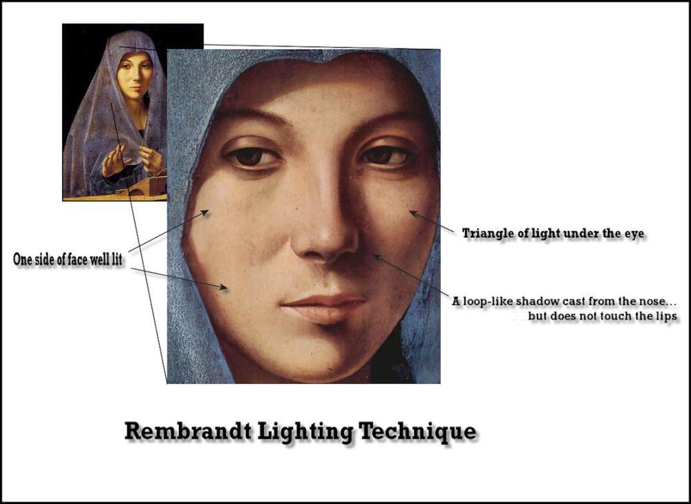 medium resolution of example of rembrandt lighting
