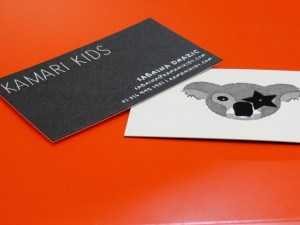 Letterpress Printed Business Card for our client that have an embossed effect.
