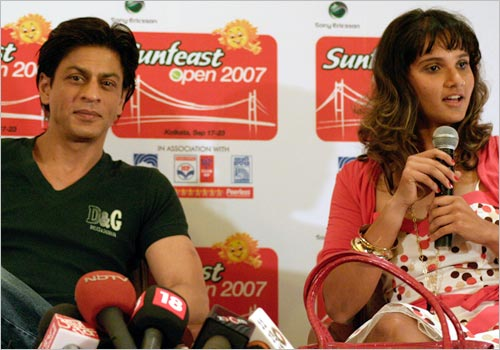 Shah Rukh Khan(SRK) and Sania