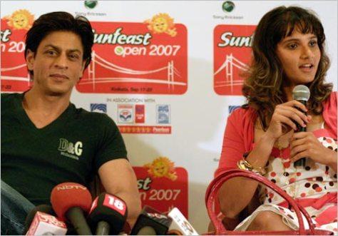 Shah Rukh Khan(SRK) and Sania
