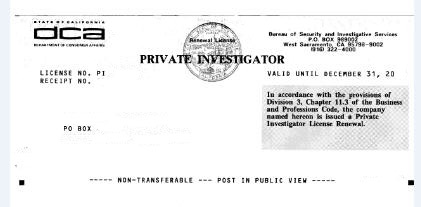 Download Investigator License Ca free  backupviet