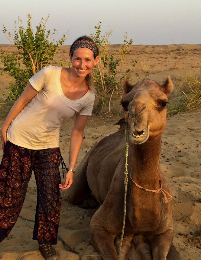 smiling camel in India - the pink backpack travel and adventure blog