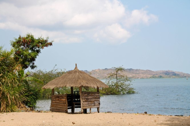 lake victoria at ekewere island, tanzania