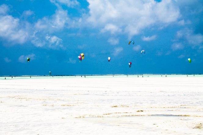 kite surfing at paje beach zanzibar tanzania