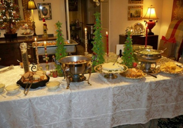 Wedding Reception Buffet Tablescapes