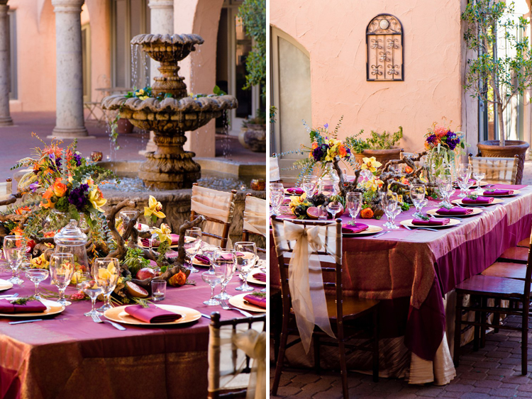 Vibrant Fall Wedding Tablescape For Thanksgiving The