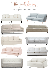 10 Gorgeous Sofas under $1000 - The Pink Dream
