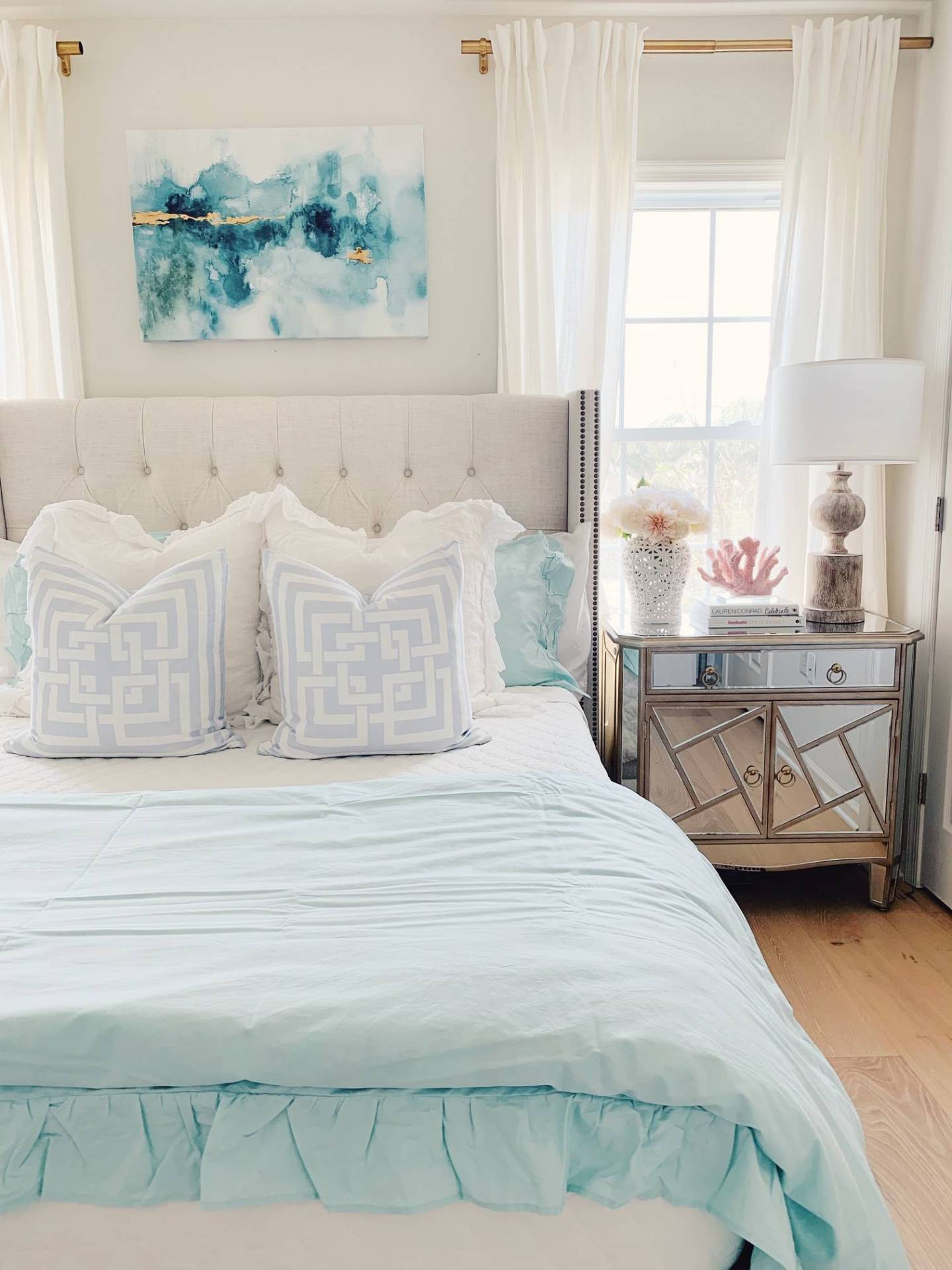 Coastal Inspired Bedroom Ideas With Walmart The Pink Dream