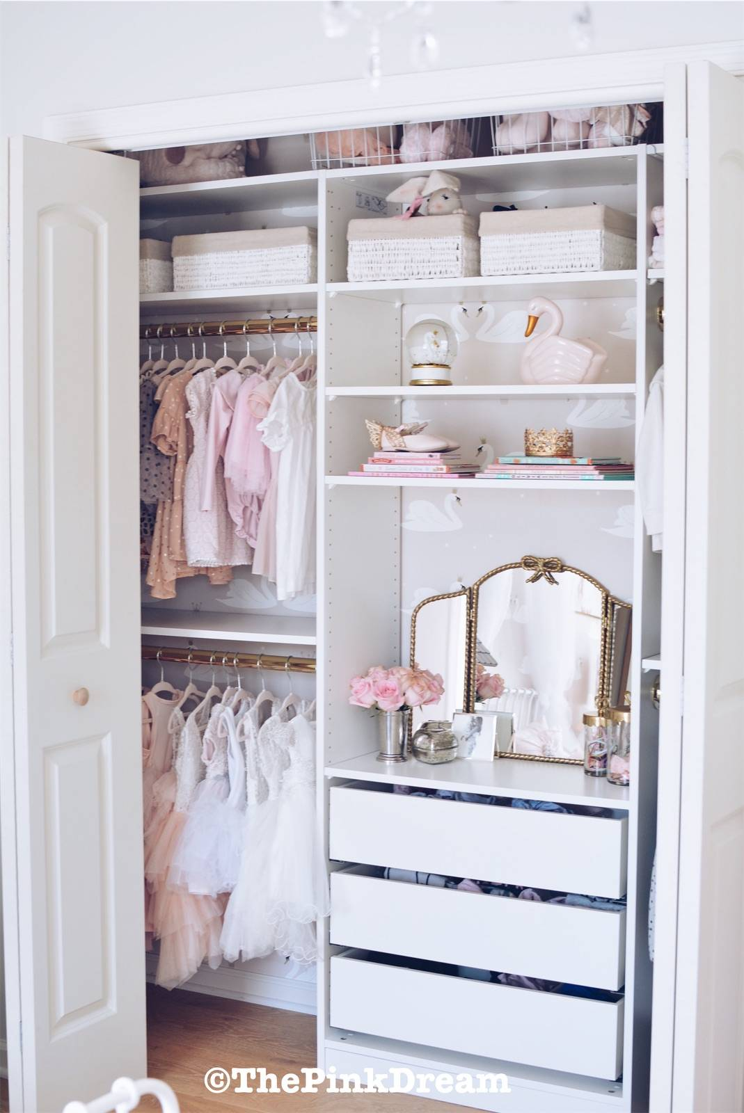 Ikea Pax Hack How To Customize A Small Closet With The Pax System The Pink Dream