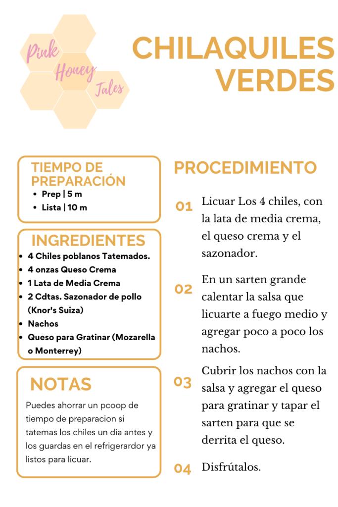 Receta Chilaquiles Verdes