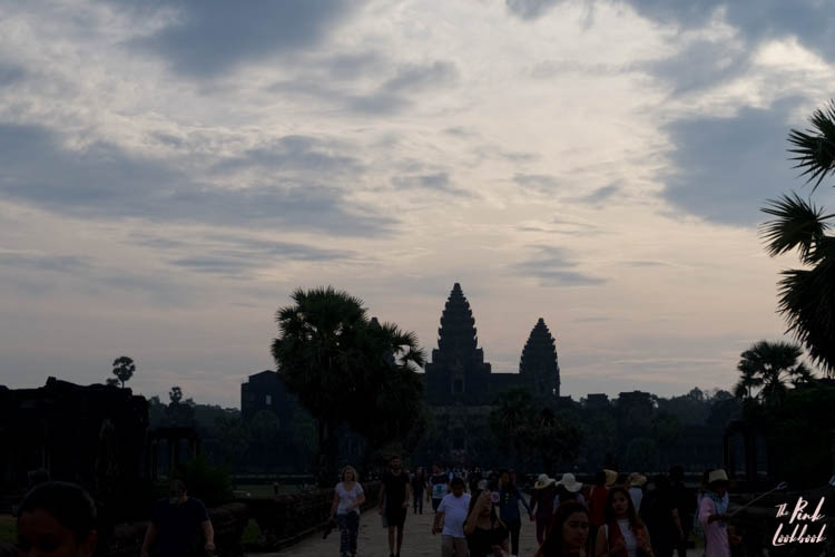 Angkor Wat Entrance Sunrise Crowds