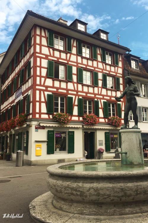 Winterthur Switzerland Day Trip from Zurich Old Town Fountain
