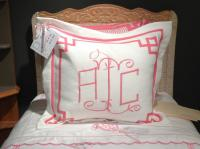 Monogrammed Euro Pillow Sham From Jane Wilner Designs