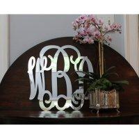 Acrylic Three Letter Monogram At The Pink Monogram
