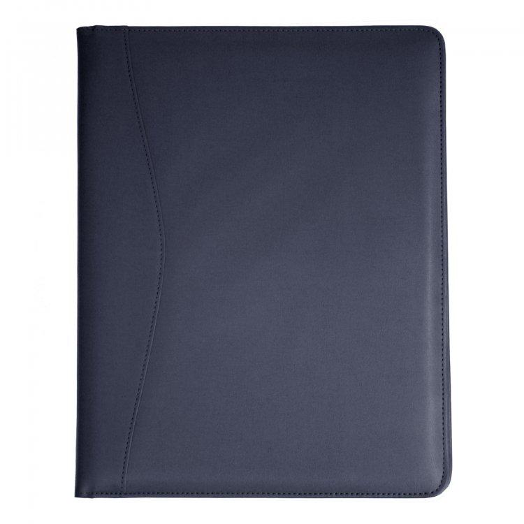 monogrammed leather portfolio