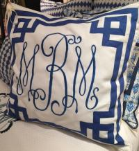 Monogrammed Euro Pillow Sham