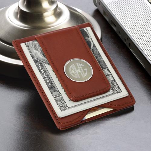 monogram money clip