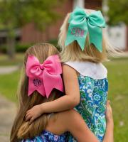 monogrammed grosgrain ribbon hair