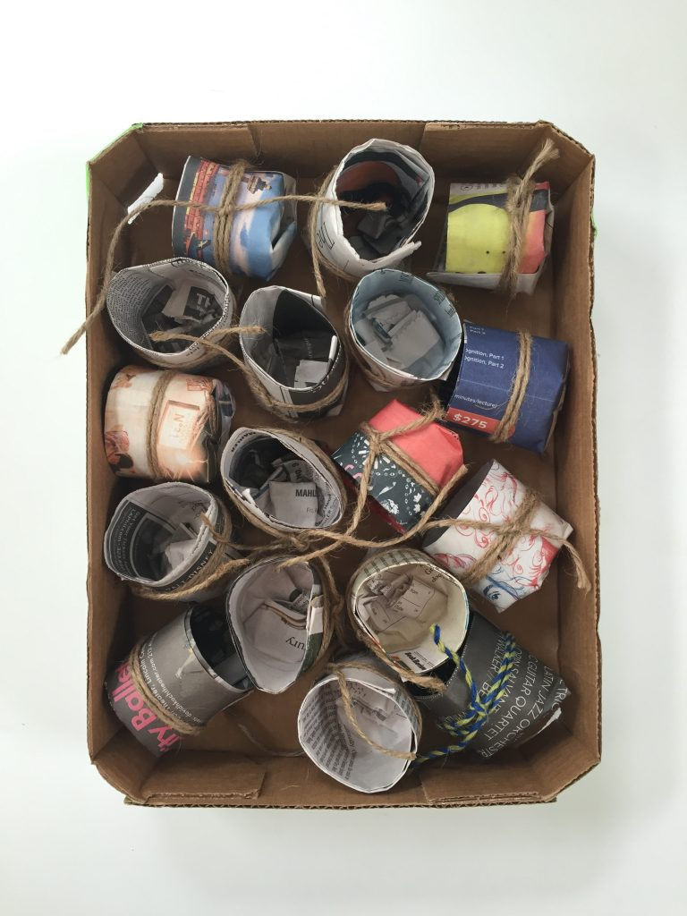 Start your seeds indoors in these up-cycled pots.