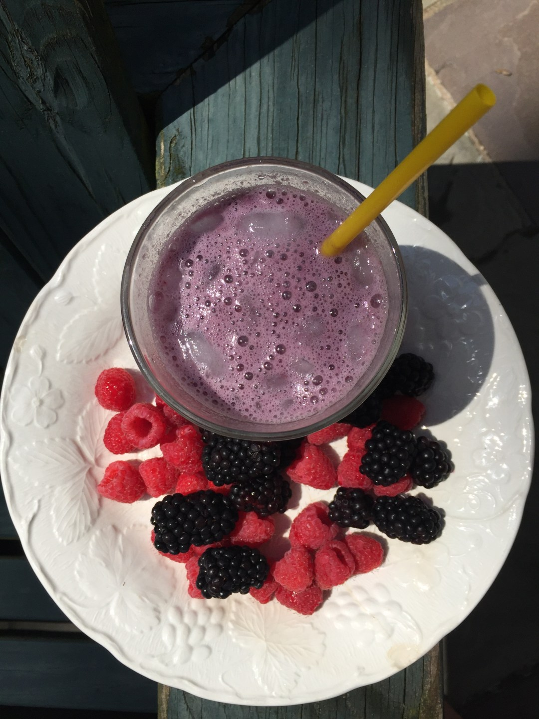 Berries and coconut milk make a hydrating smoothie.