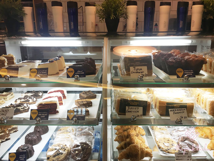 Wayne's Coffee has decent selections of sweet and savory snacks.