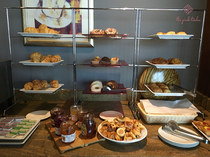 Selection of pastries and bread