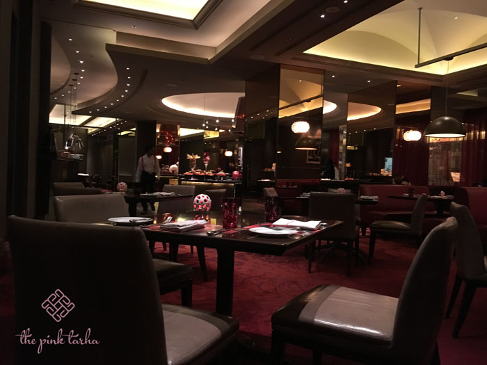 Rosso is elegant; its interiors is a feast for the senses.