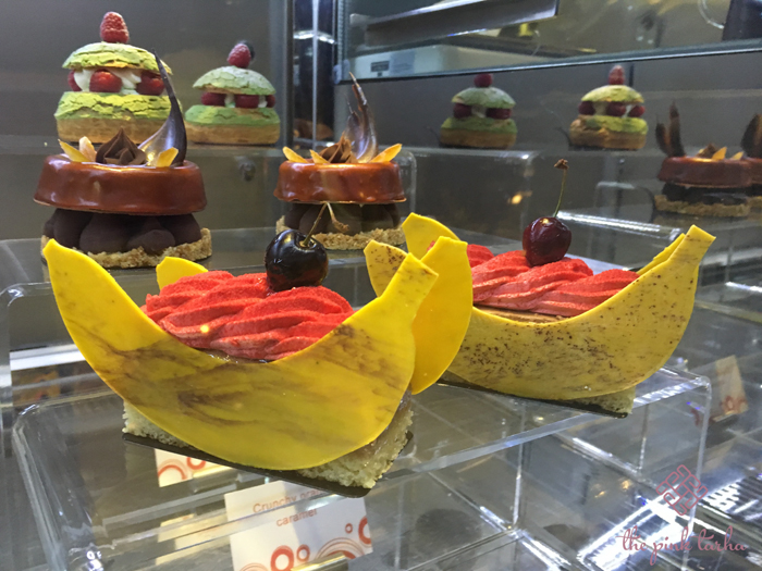 Ala carte pastries and desserts like this banana split! Literal! :P