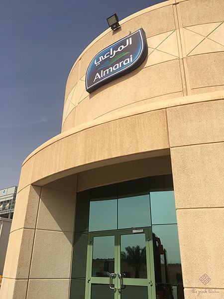 Our first Almarai building stop.