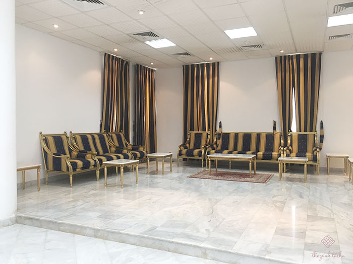One of the seating area inside.