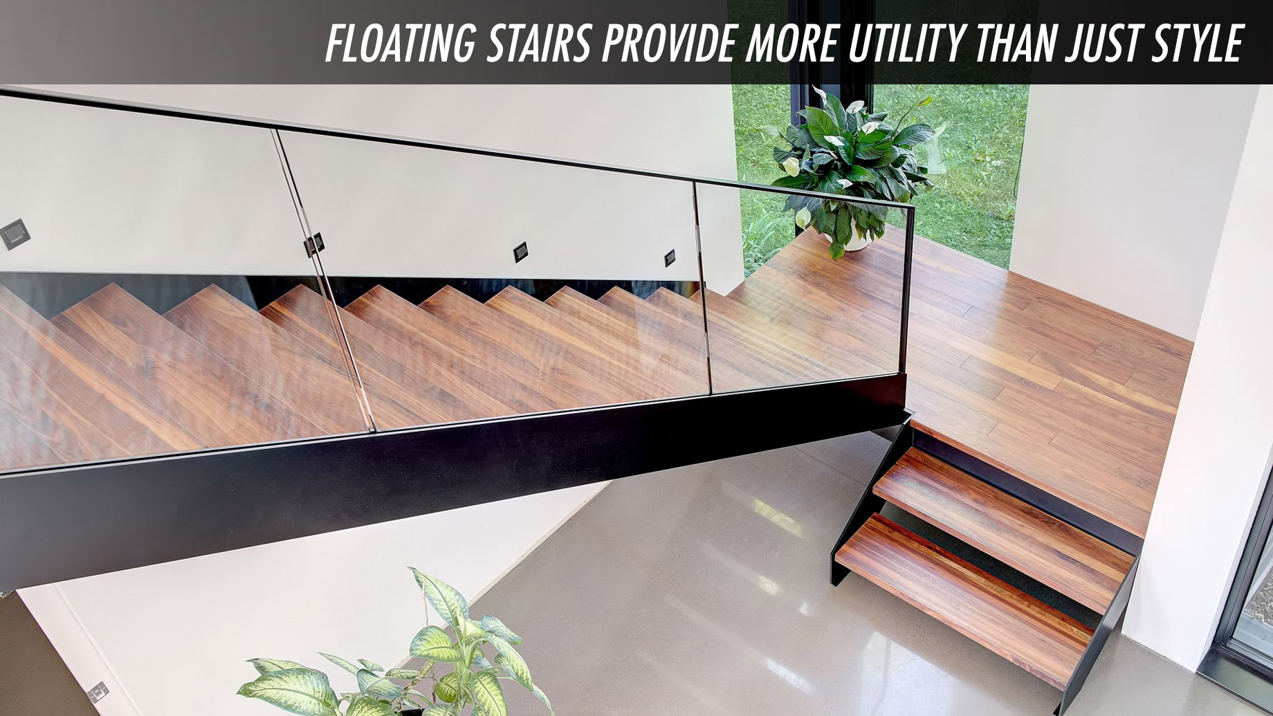 Home Design Tips – Floating Stairs Provide More Utility Than Just   Design For Stairs At Home   Iron   Interior Design   Stairway   Wood   Living Room