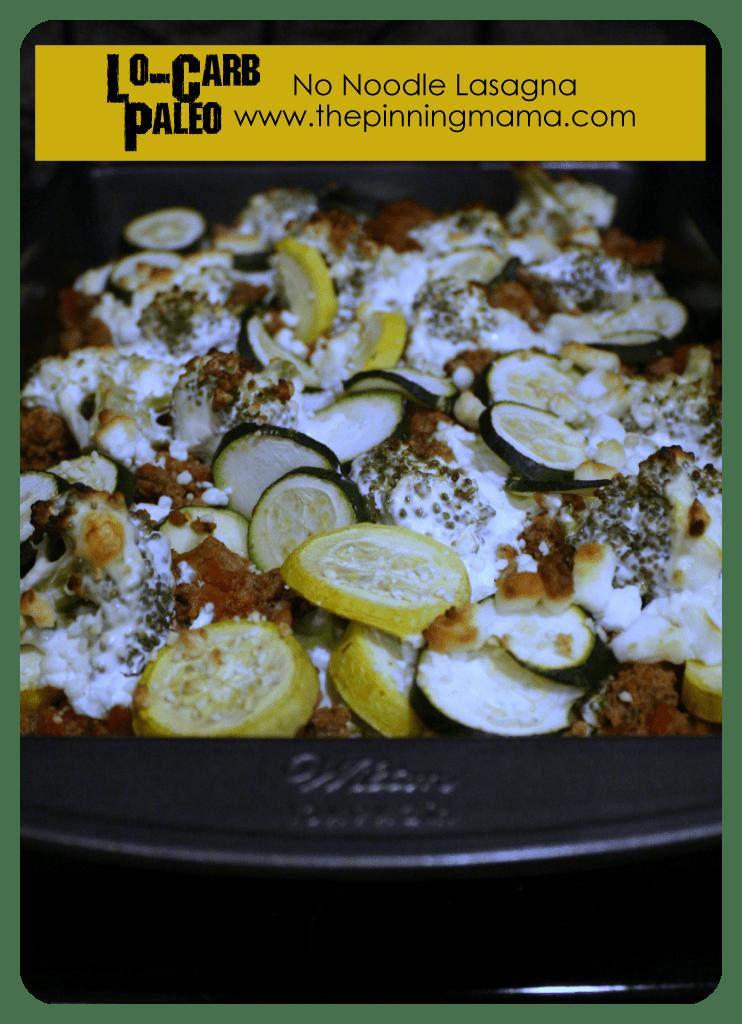 Lo-carb, no noodle lasagna. Paleo Diet.