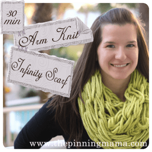 Easy chunky knit scarf