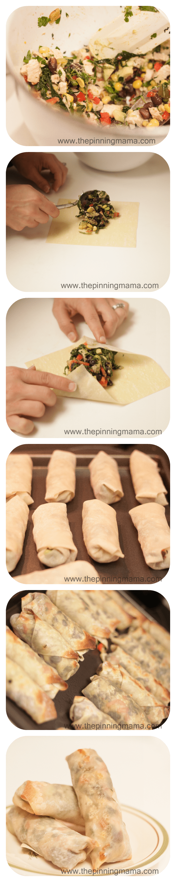 Baked Southwestern Eggrolls with Chicken and Avocado by www.thepinningmama.com