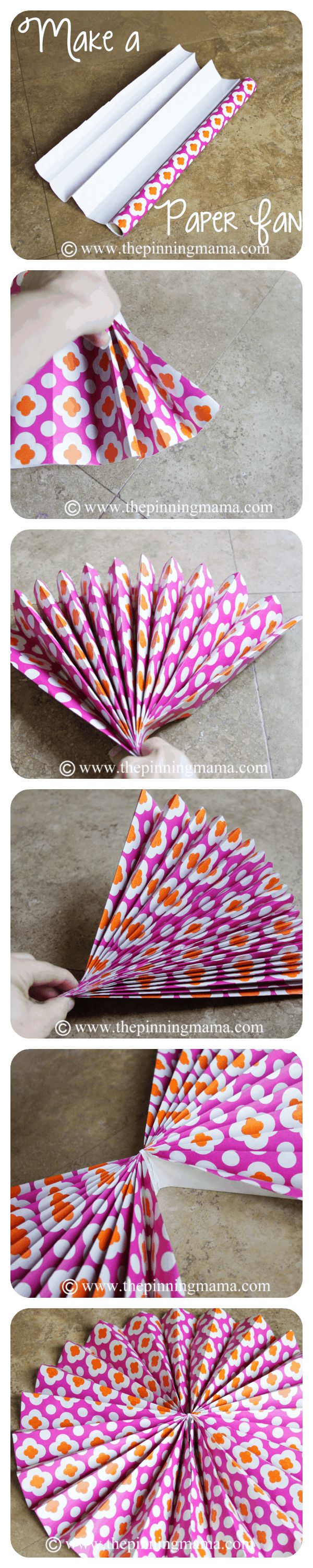 steps to make a paper fan easily