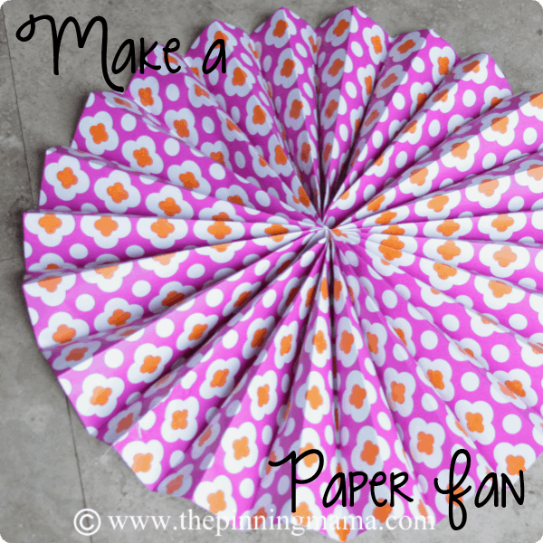 diy paper fans for party backdrop and more
