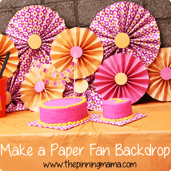 How to make a paper fan backdrop for a party